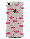 For Apple iPhone 7 7 Plus 6S 6 Plus SE 5S 5 Case Cover Flamingo Pattern Drop Glue Varnish High Quality TPU Material Phone Case