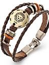 Femme Homme Bracelets en cuir Vintage Cuir Forme Geometrique Bijoux Pour 1 piece