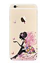 사과 iphone se / 5s 5 케이스 커버 투명 패턴 다시 커버 케이스 섹시한 여자 부드러운 tpu