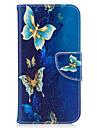 Pour samsung galaxy j3 j3 (2016) casquette papillon modele pu materiel carte stent portefeuille telephone casque galaxy j7 j5 j3