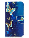 For Huawei P10 Lite P8 Lite (2017) Phone Case PU Leather Material Golden Butterfly Pattern Painted P10 P9 Lite P9 Y5 II Honor 6X