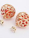 Euramerican Fashion Adorable Elegant Cube Acrylic Lady Party  Stud Earrings Movie Jewelry