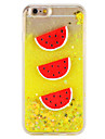 Caso para maca iphone 7 7 mais fluir liquido padrao fruta brilho brilhar pc rigido 6s mais 6 mais 6s 6