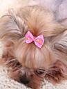 Аксессуары для шерсти Одежда для собак Милые Мода На каждый день Бант Желтый Пурпурный Красный Синий Розовый