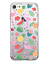 Para iPhone X iPhone 8 Case Tampa Ultra-Fina Estampada Capa Traseira Capinha Flamingo Fruta Macia PUT para Apple iPhone X iPhone 8 Plus