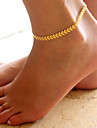 Summer Style Beach Anklet Metal Arrow Pattern Women\'s Anklet/Bracelet Alloy Fashion Leaf Silver Gold Jewelry For Daily Casual 1 pc
