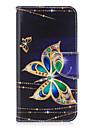 Для huawei p10 p9 lite чехол крышка бабочка узор pu материал карта стент кошелек телефон случай галактика 6x y5ii p8 lite (2017)