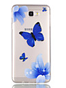 For Case Cover Transparent Pattern Back Cover Case Butterfly Soft TPU for Samsung J7 (2016) J7 Prime J5 (2016) J5 Prime J3 J3 (2016)