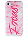 Назначение Чехлы панели IMD С узором Задняя крышка Кейс для Слова / выражения Мрамор Мягкий Термопластик для AppleiPhone 7 Plus iPhone 7
