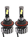 KKmoon Pair of H13 DC 12V 40W 4000LM 6000K LED Headlight Lamp Kit Light Bulbs