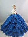 Party/Evening Dresses For Barbie Doll Green Blue Lace Dresses For Girl\'s Doll Toy