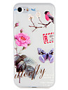 Etui pour Apple iphone 7 plus 7 couverture en relief motif arriere couverture etui fleur arbre animal tpu doux 6s plus 6 plus 6s 6 5 5s