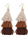Women\'s Drop Earrings Jewelry Tassel Vintage Bohemian Euramerican Fashion Cotton Alloy Irregular Jewelry ForWedding Anniversary