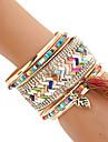 Women\'s Bangles Cuff Bracelet Wrap Bracelet Rock Handmade Multi Layer Costume Jewelry Fashion Bohemian Mixed Materials Resin Mixed