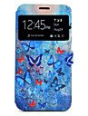 Case For Samsung Galaxy A5(2017) A3(2017) Butterfly Pattern Window Clamshell PU Leather Case with Stand and Card Slot