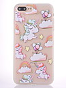 Etui pour apple iphone 7 7 plus housse couverture unicorn balloon pattern scrub translucide plus epais materiau tpu etui souple etui pour