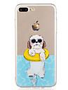 Pour iPhone X iPhone 8 Etuis coque Motif Coque Arriere Coque Chien Flexible PUT pour Apple iPhone X iPhone 8 Plus iPhone 8 iPhone 7 Plus