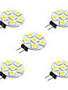 1W LED a Double Broches 6 SMD 5050 68 lm Blanc Chaud Blanc DC 12 V 5 pieces