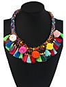 Women\'s Choker Necklaces Pendant Necklaces Statement Necklaces Geometric Mixed Materials Metal Alloy Pendant Floral Bohemian Handmade