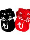Chien Costume Manteaux Vetements pour Chien Halloween Ange et Diable Noir Rouge