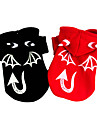 Dog Costume Coat Dog Clothes Halloween Angel & Devil Ruby Black