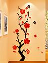 A fleurs/Botanique Romance Stickers muraux Autocollants muraux 3D Stickers muraux a strass Autocollants muraux decoratifs 3D,Acrylique