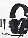 ajazz-ax300 머리띠 유선 헤드폰 동적 Aluminum Alloy 패브릭 게임 이어폰 인체 공학적 Comfort-Fit 마이크 포함 볼륨 컨트롤 헤드폰