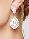 Women\'s Girls\' Drop Earrings Rhinestone Luxury Costume Jewelry Bridal Elegant Rhinestone Silver Plated Drop Teardrop Jewelry For Wedding