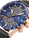 MINI FOCUS Men\'s Sport Fashion Watches Wristwatch Chronograph Stopwatch Quartz Genuine Leather Band Luxury Business Clock Relogio Masculino Hombre