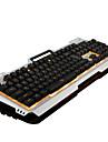 Ruyiniao v10 jeu de metal clavier retro-eclaire 104 touches cable USB monochrome jaune