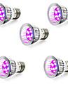 5W E14 GU10 E27 LED Grow Lights 10 SMD 5730 165-190 lm Red Blue AC85-265 V 5 pcs