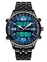 SKMEI Homme Montre Habillee Montre Bracelet Japonais QuartzCalendrier Chronographe Etanche Double Fuseaux Horaires Chronometre