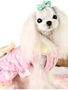 강아지 드레스 강아지 의류 캐쥬얼/데일리 프린세스 옐로우 핑크