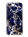 Para iPhone 7 iPhone 7 Plus Case Tampa Ultra-Fina Estampada Capa Traseira Capinha Marmore Macia PUT para Apple iPhone 7 Plus iPhone 7
