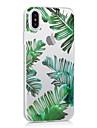 Назначение iPhone X iPhone 8 iPhone 8 Plus Чехлы панели Ультратонкий Прозрачный С узором Задняя крышка Кейс для дерево Мягкий Термопластик