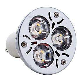 gu10 3w 300lm 3000k chaude ampoule blanche tache lumineuse led (85-265v)
