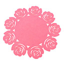 Rose Pattern Sponge Coaster Cup Mat