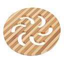 """5 """"Hohle Windmill Pattern Bamboo Coaster"""