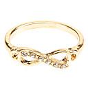 Frauenpunk unendlich goldene Silber cz Ring
