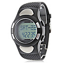 Unisex Strapless Heart Rate Monitor Black Silicone Band Digital Wrist Watch with Pedometer Cool Watch Unique Watch