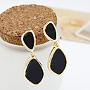 Earring Drop Earrings Jewelry Women Party / Daily Alloy / Acrylic Black / White
