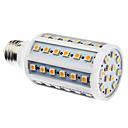 E27 10W 60x5050SMD 800-900LM 3000-3500K Warm White Light LED Corn Bulb (110/220V)