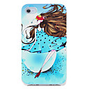 Cartoon Girl in Blue Pattern Hard Case for iPhone 4/4S