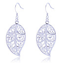 Earring Leaf Drop Earrings Jewelry Women Party / Daily Alloy Silver