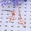 Lureme®Unsymmetric Cross Chain Earrings