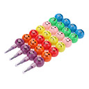 4pcs 11 Colors Smile Face Style Detachable Crayon