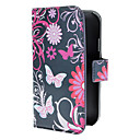 Purple Butterflies Pattern PU Leather Case with Magnetic Snap and Card Slot for Samsung Galaxy Grand DUOS I9082