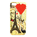 Love Balloon Animals and The Eiffel Tower Pattern Back Case for iPhone 5/5S