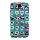 Matte Style Lovely Cartoon Owl Pattern Durable Hard Case for Samsung Galaxy S4 I9500