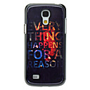 Letter EVERYTHING Pattern Aluminum Hard Case for Samsung Galaxy S4 mini I9190